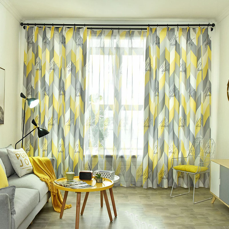 Nordic Modern Simple Blackout Curtains for Living Room Bedroom No Pilling No Fading No off-lining Machine Wash Accepted