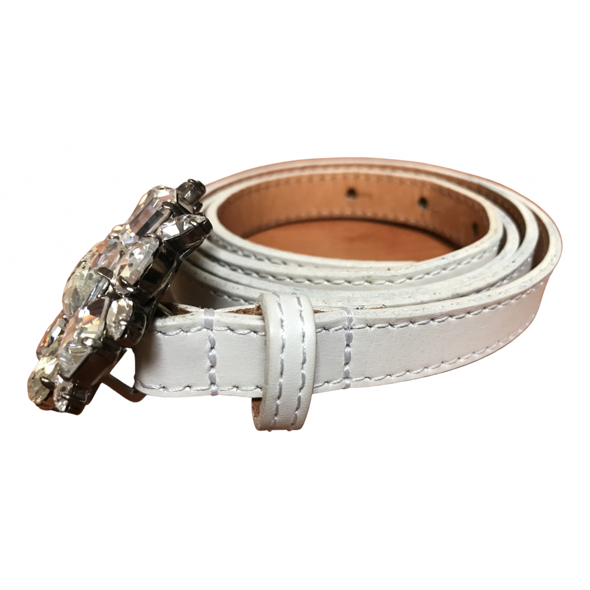 Dsquared2 \N White Leather belt for Women M International