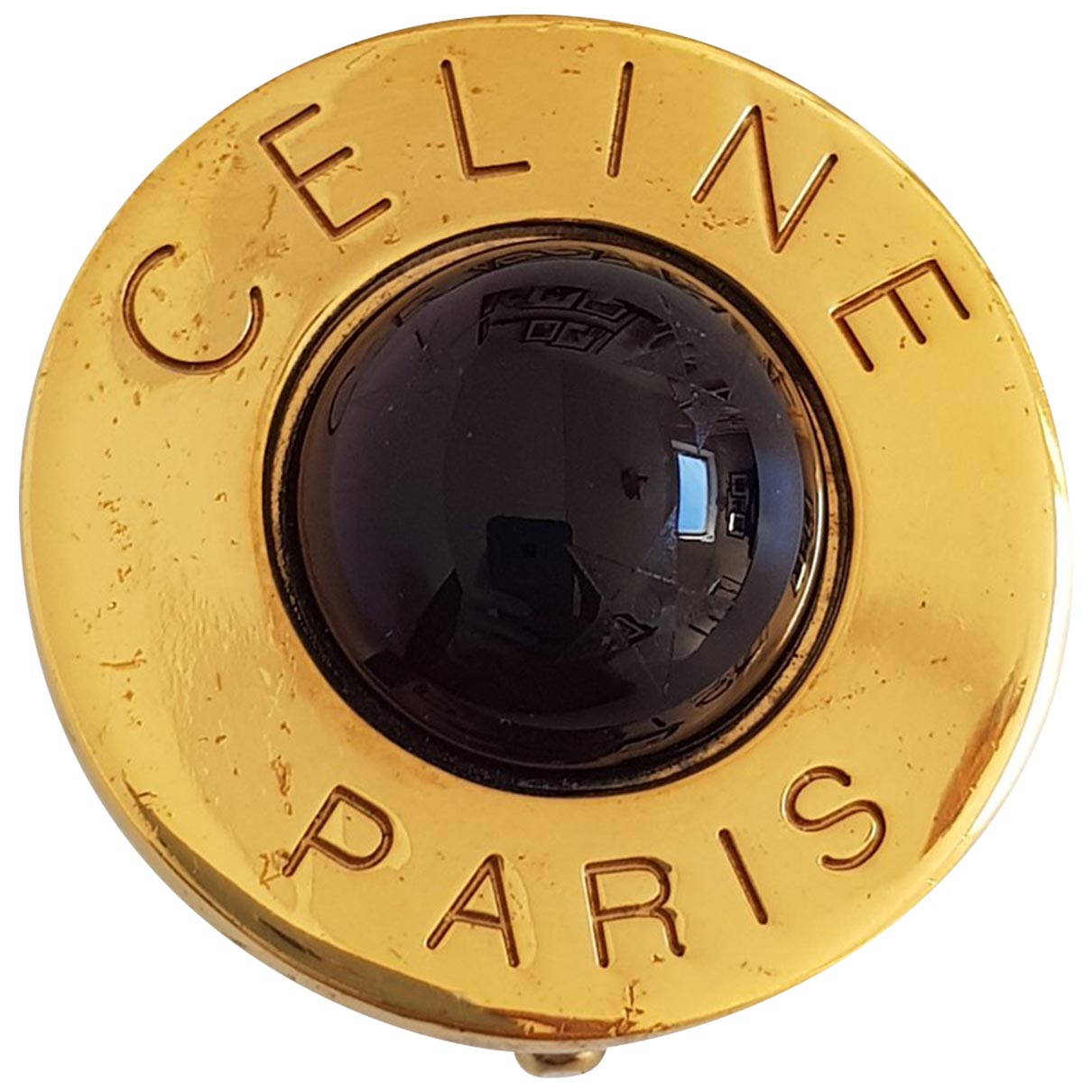 Celine \N Brosche in  Gold Metall