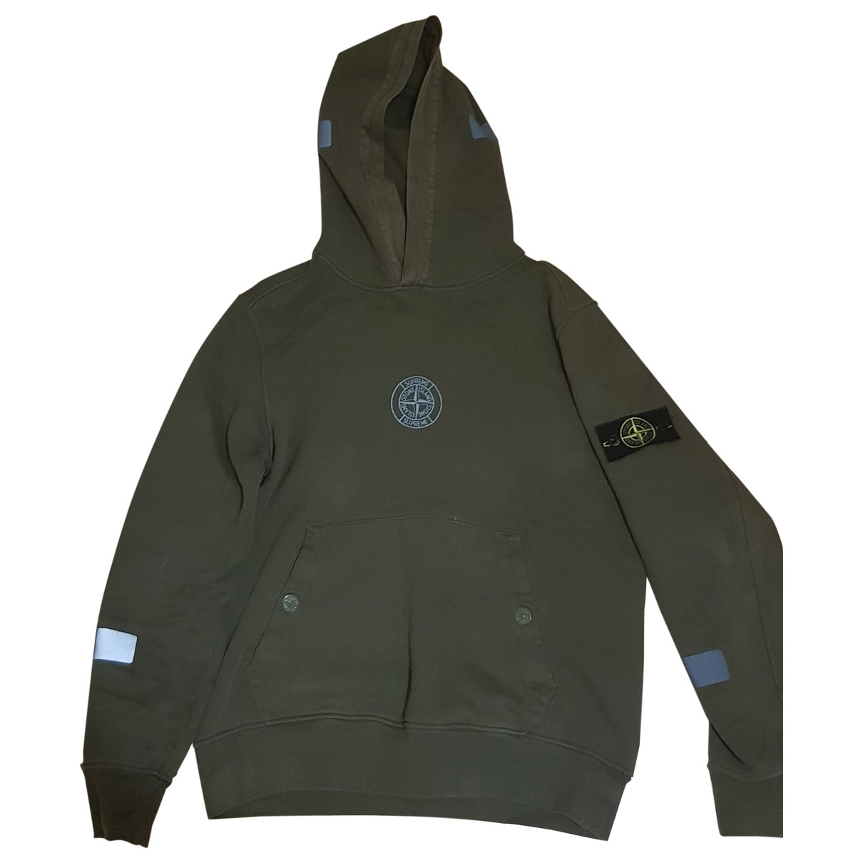 Supreme X Stone Island \N Khaki Cotton Knitwear & Sweatshirts for Men 38 UK - US