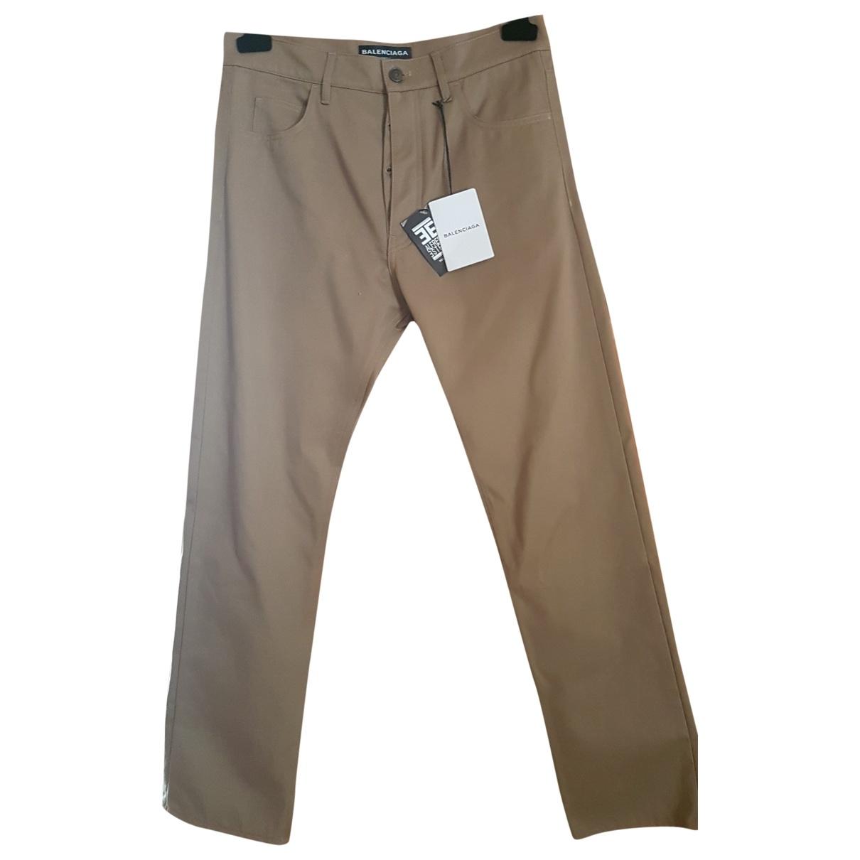 Balenciaga \N Beige Cotton Trousers for Men M International