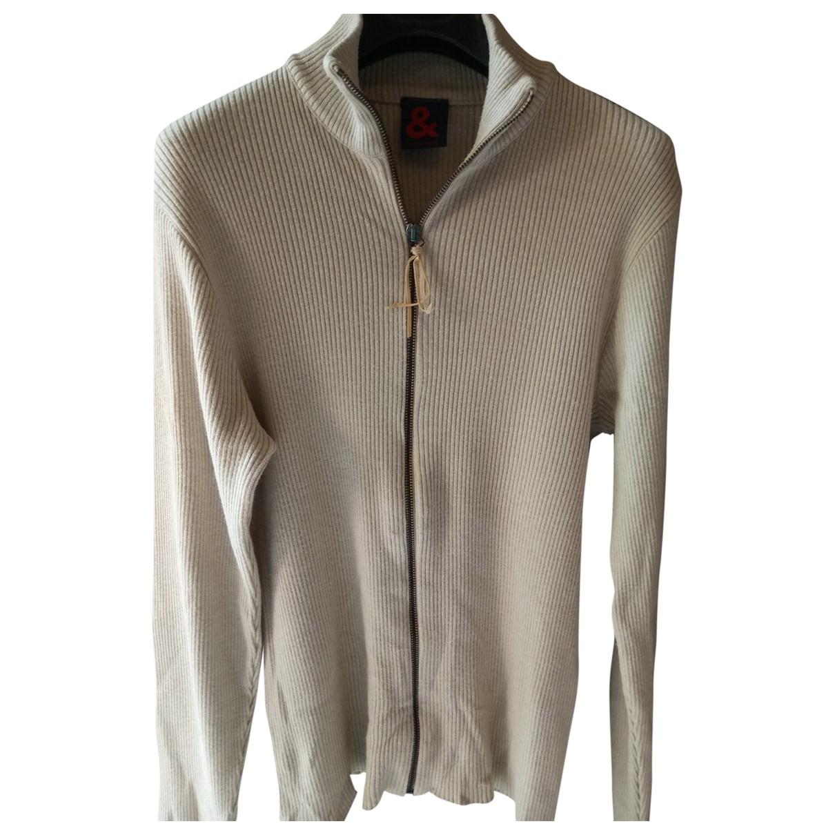 Dolce & Gabbana \N Pullover.Westen.Sweatshirts  in  Beige Baumwolle