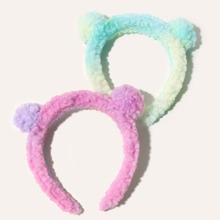 2 piezas aro de pelo mullido de niñitas