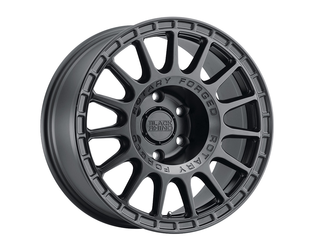 Black Rhino Sandstorm Wheel 17x8  5x112 35mm Semi Gloss Black w/Machined Dark Tint Ring
