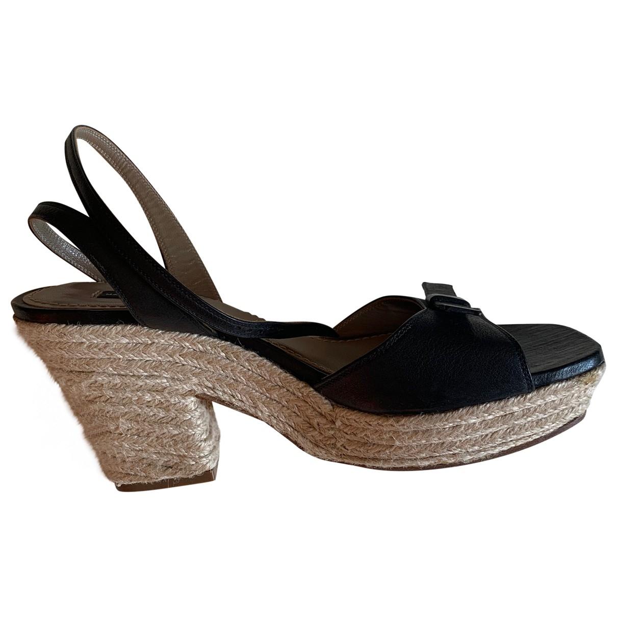 Marc Jacobs - Sandales   pour femme en cuir - noir