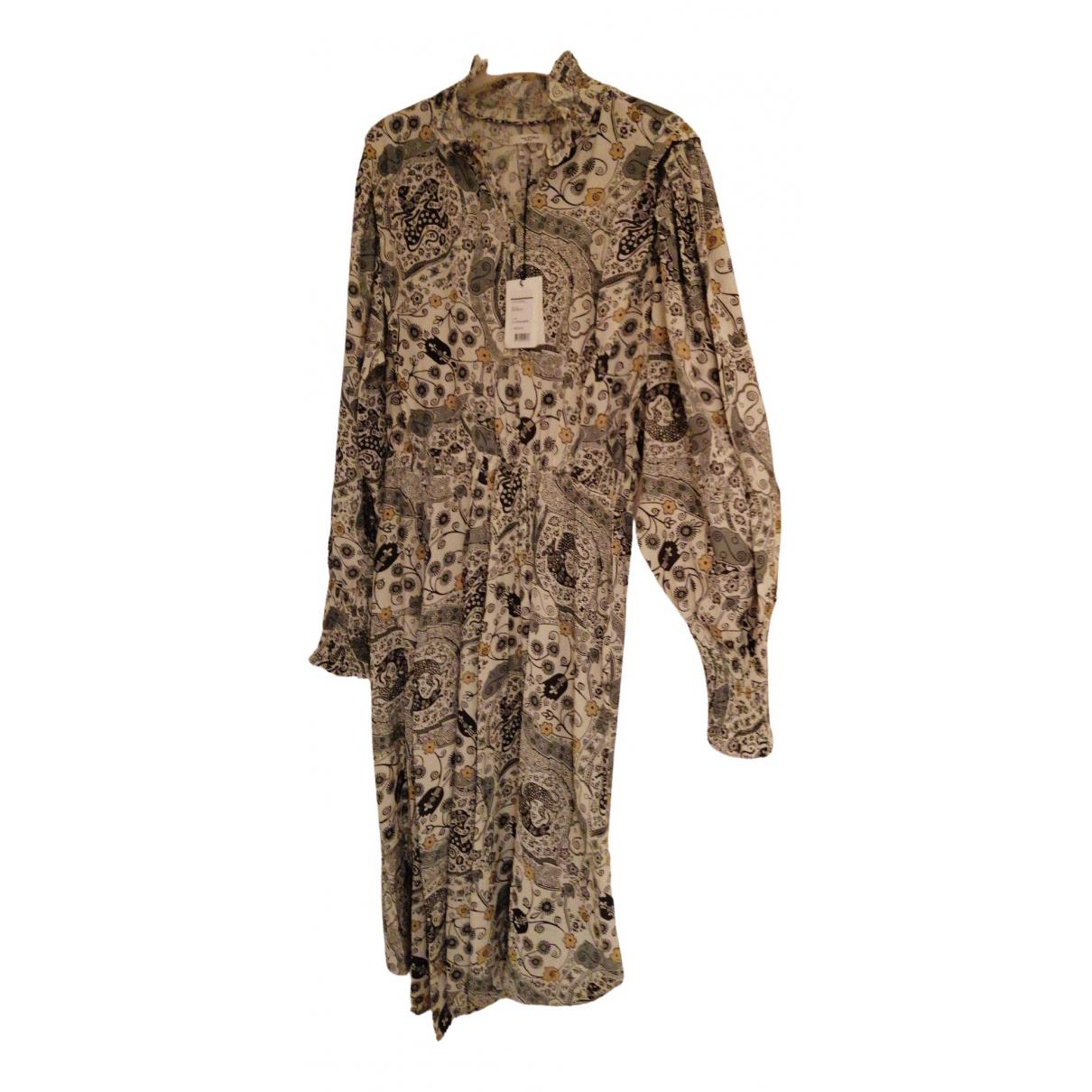 Isabel Marant Etoile \N Kleid in  Beige Viskose