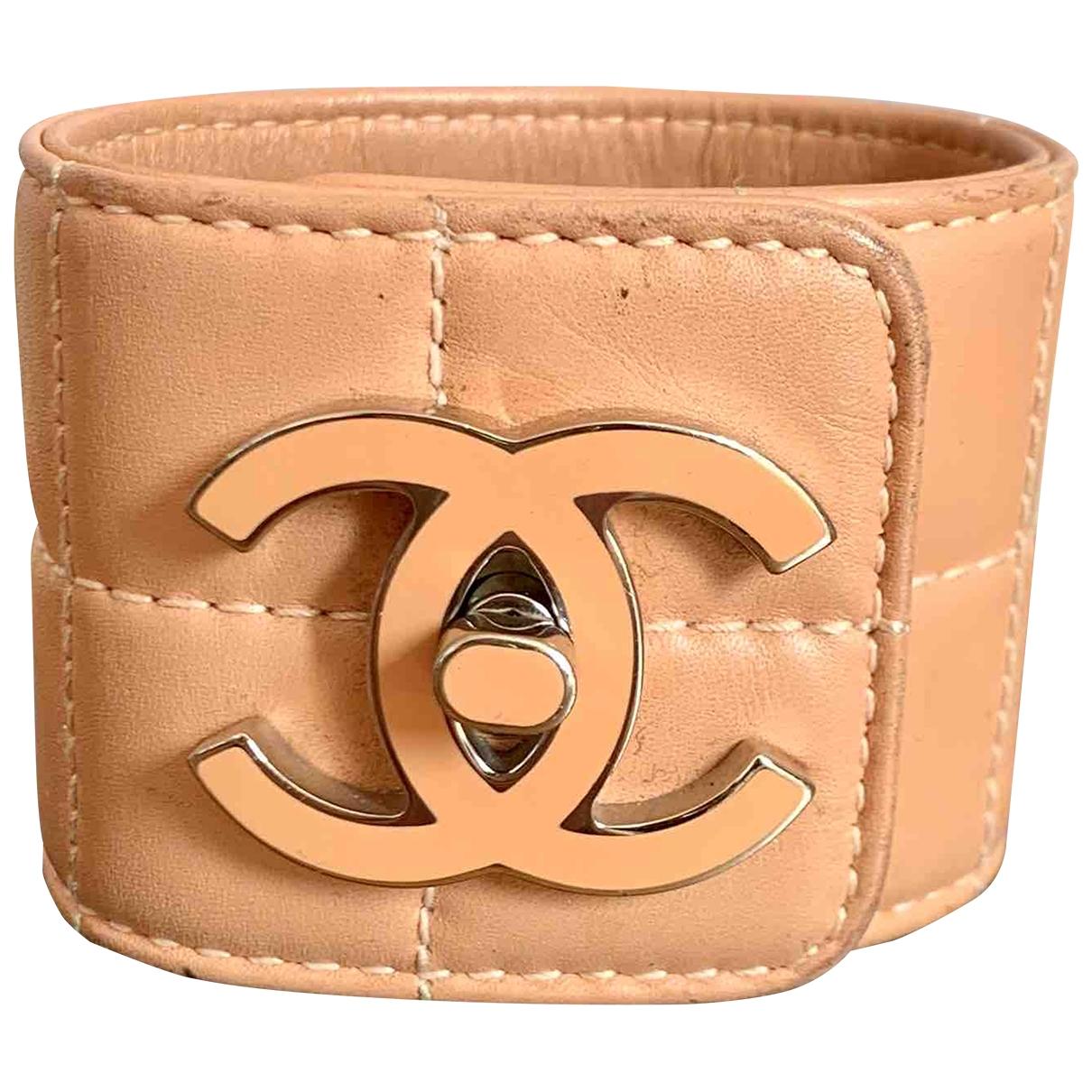 Chanel - Bracelet   pour femme en cuir - rose