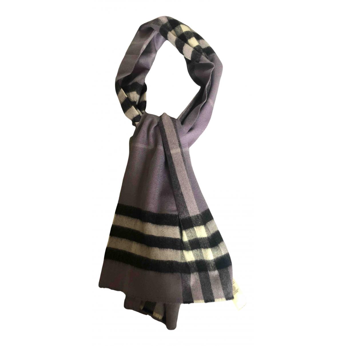 Burberry - Foulard   pour femme en cachemire - violet