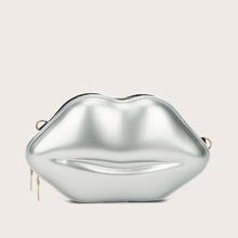 Lip Shaped Chain Bag