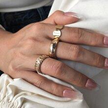 3 Stuecke Ring mit rundem Design