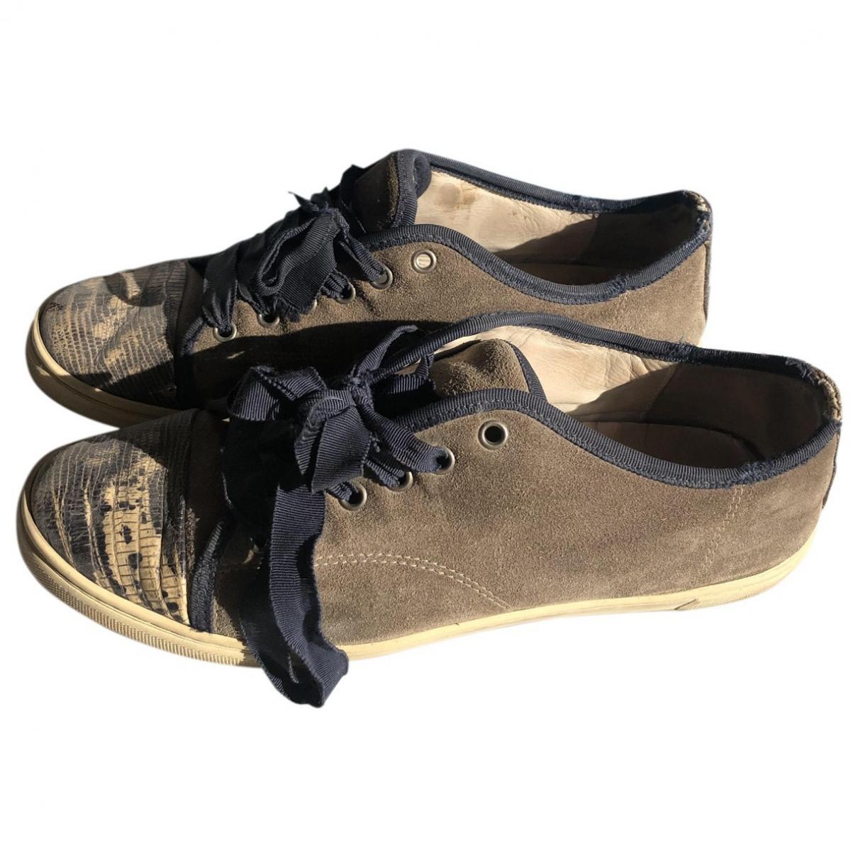 Lanvin \N Sneakers in  Braun Veloursleder