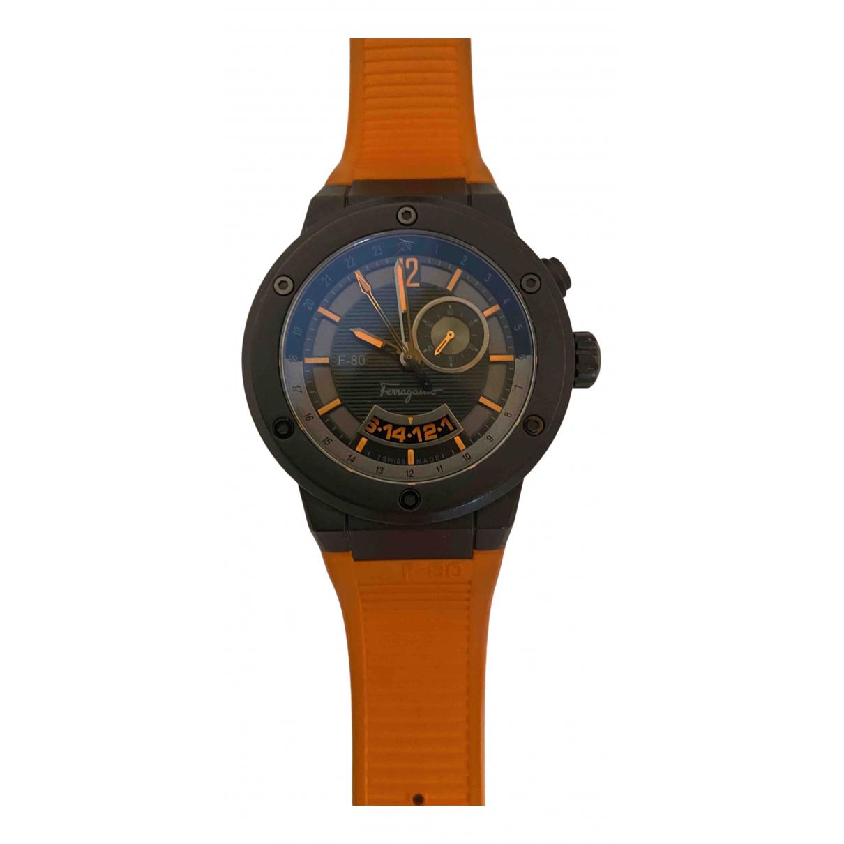 Salvatore Ferragamo \N Uhr in  Orange Stahl