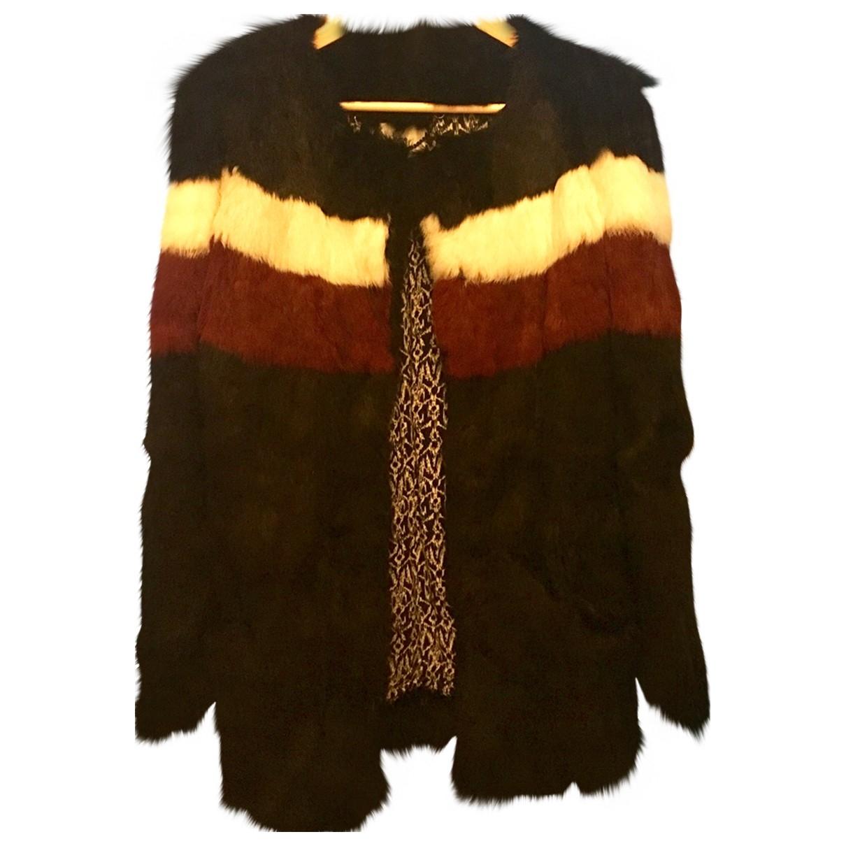 Suncoo \N Black Rabbit coat for Women 38 FR