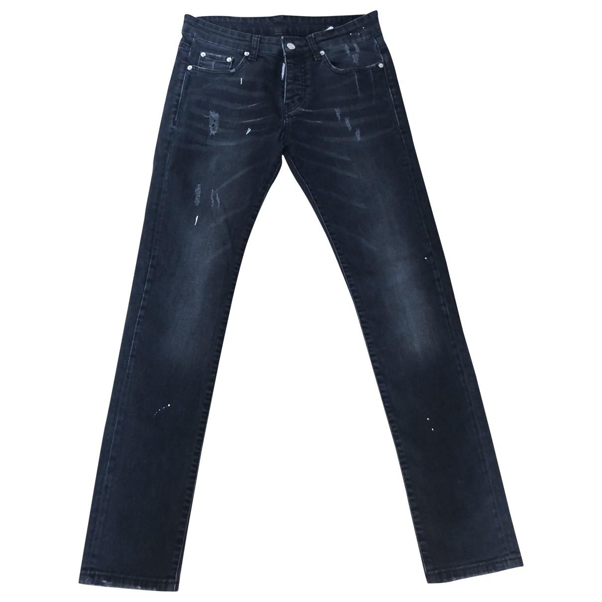 Dsquared2 \N Black Denim - Jeans Jeans for Women 36 FR