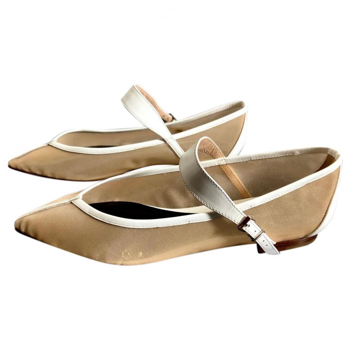 Emporio Armani - Ballerines   pour femme en cuir - beige
