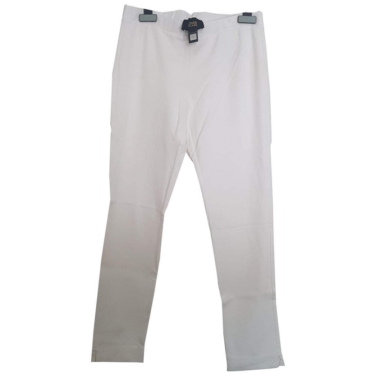 Roberto Cavalli \N White Trousers for Women 42 IT