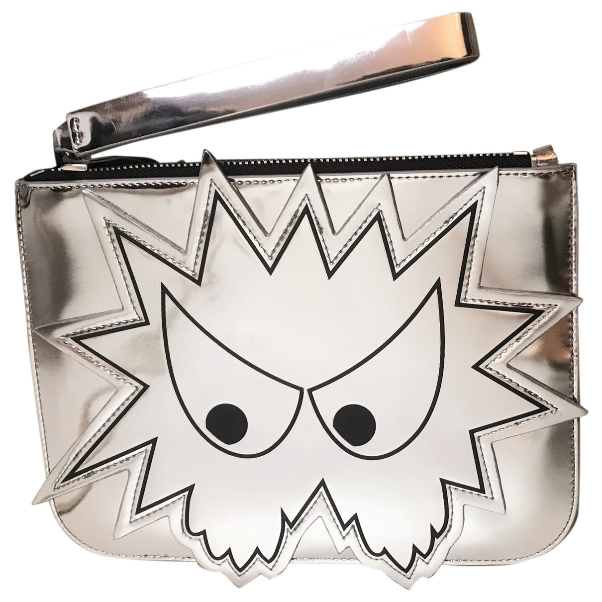 Mcq N Silver Patent leather Clutch bag for Women N