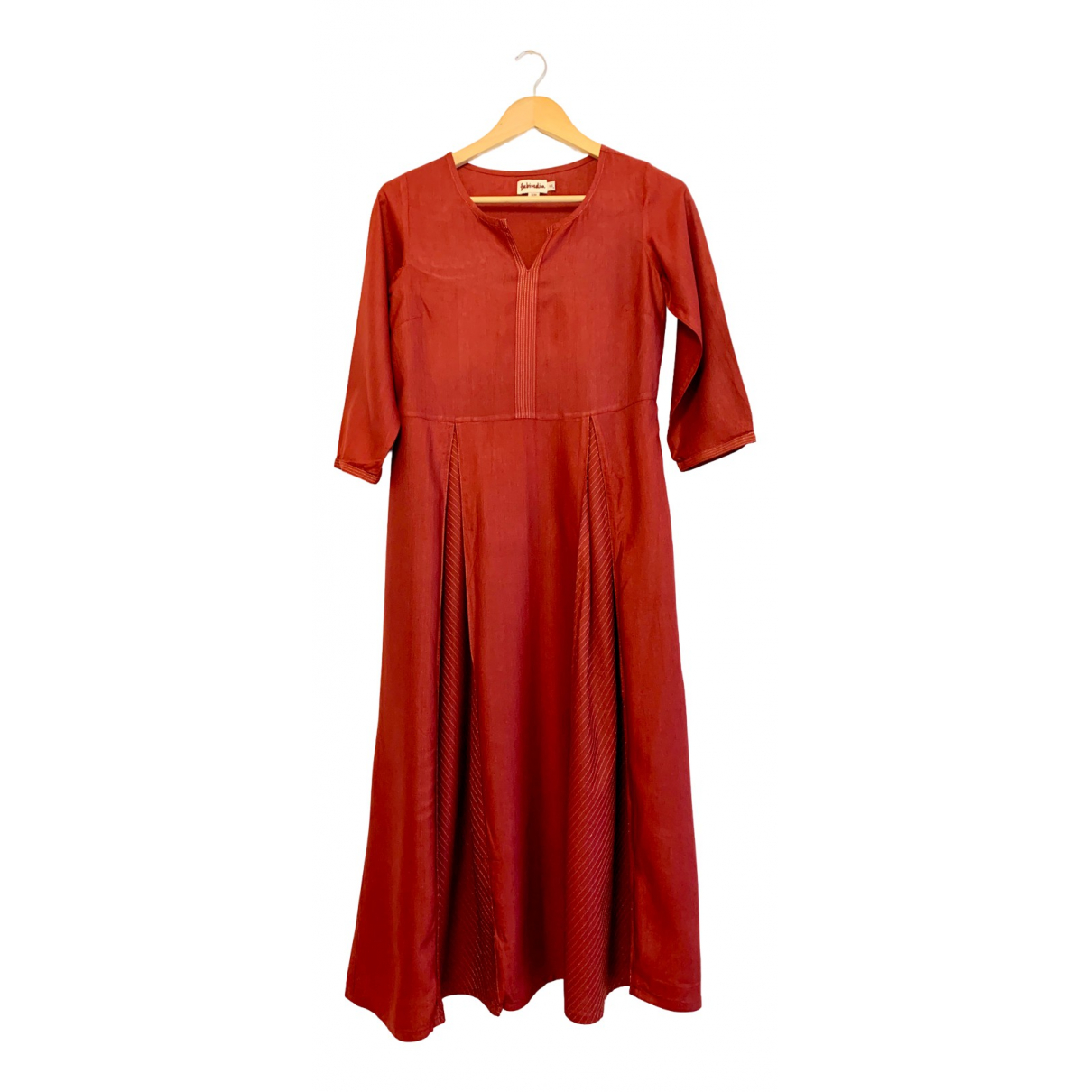 Non Signe / Unsigned \N Kleid in  Bordeauxrot Viskose