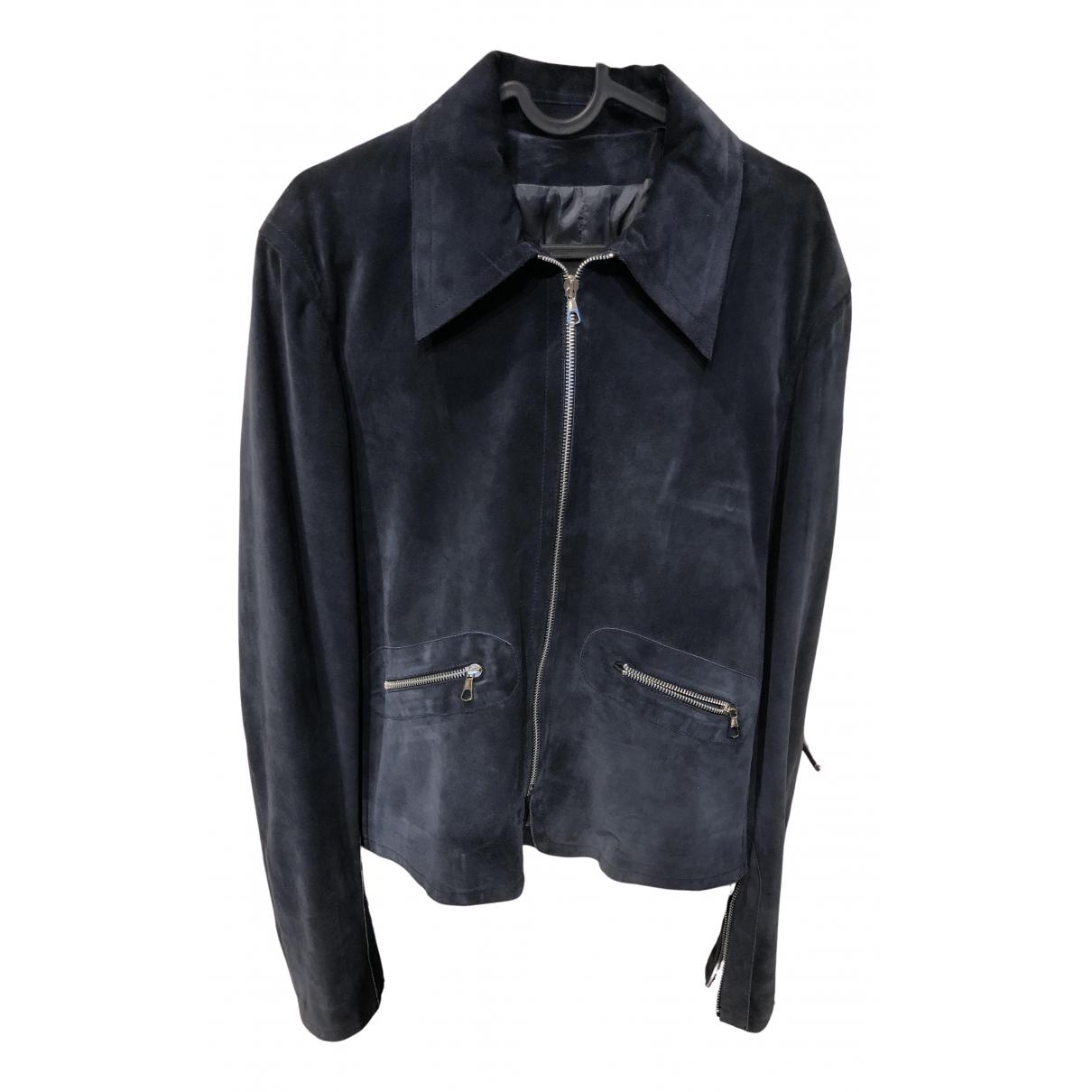 Costume National \N Blue Suede jacket  for Men M International