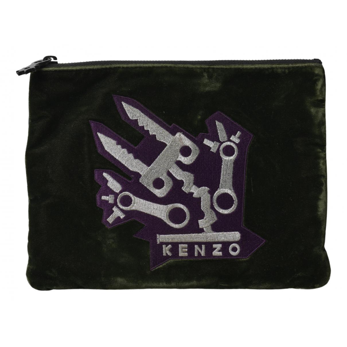 Kenzo \N Clutch in  Khaki Samt