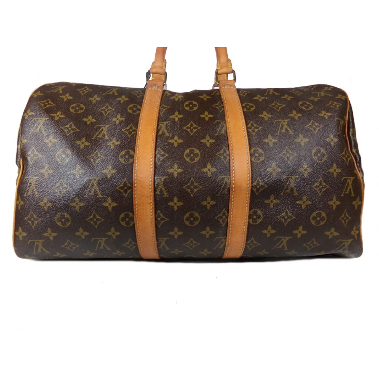 Louis Vuitton Sac souple  Handtasche in  Braun Leinen