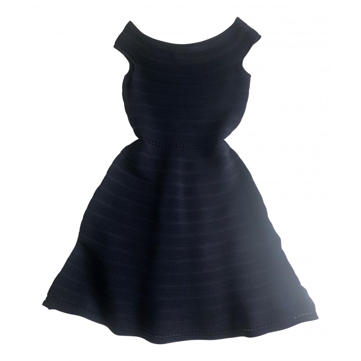 Sandro \N Blue Cotton - elasthane dress for Women 8 UK