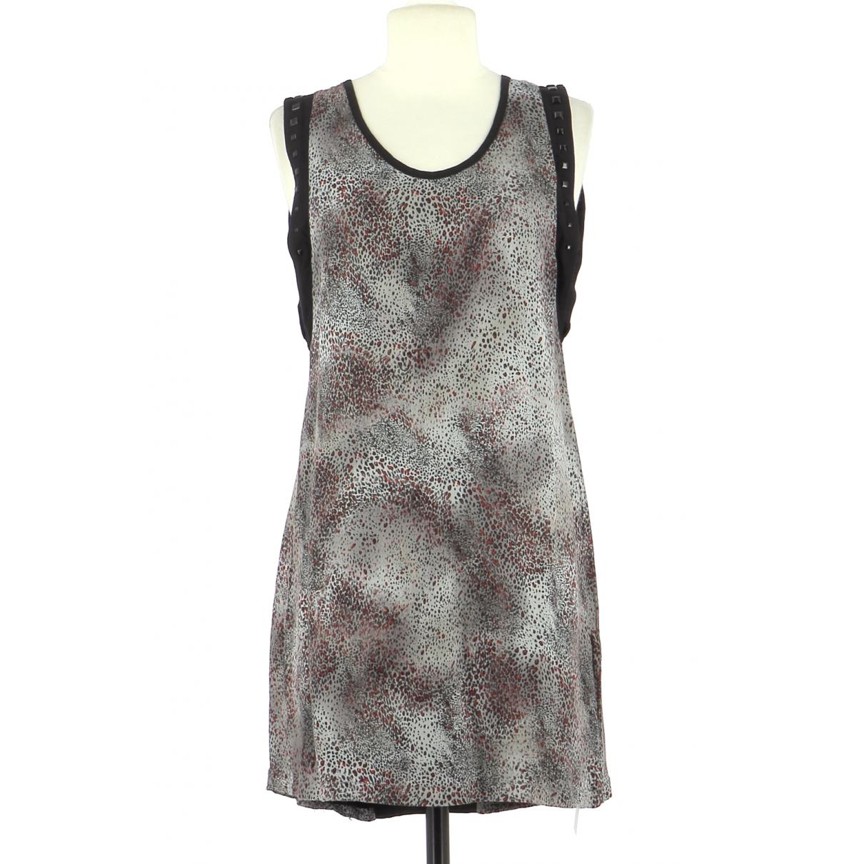 Ikks \N Kleid in  Grau Viskose
