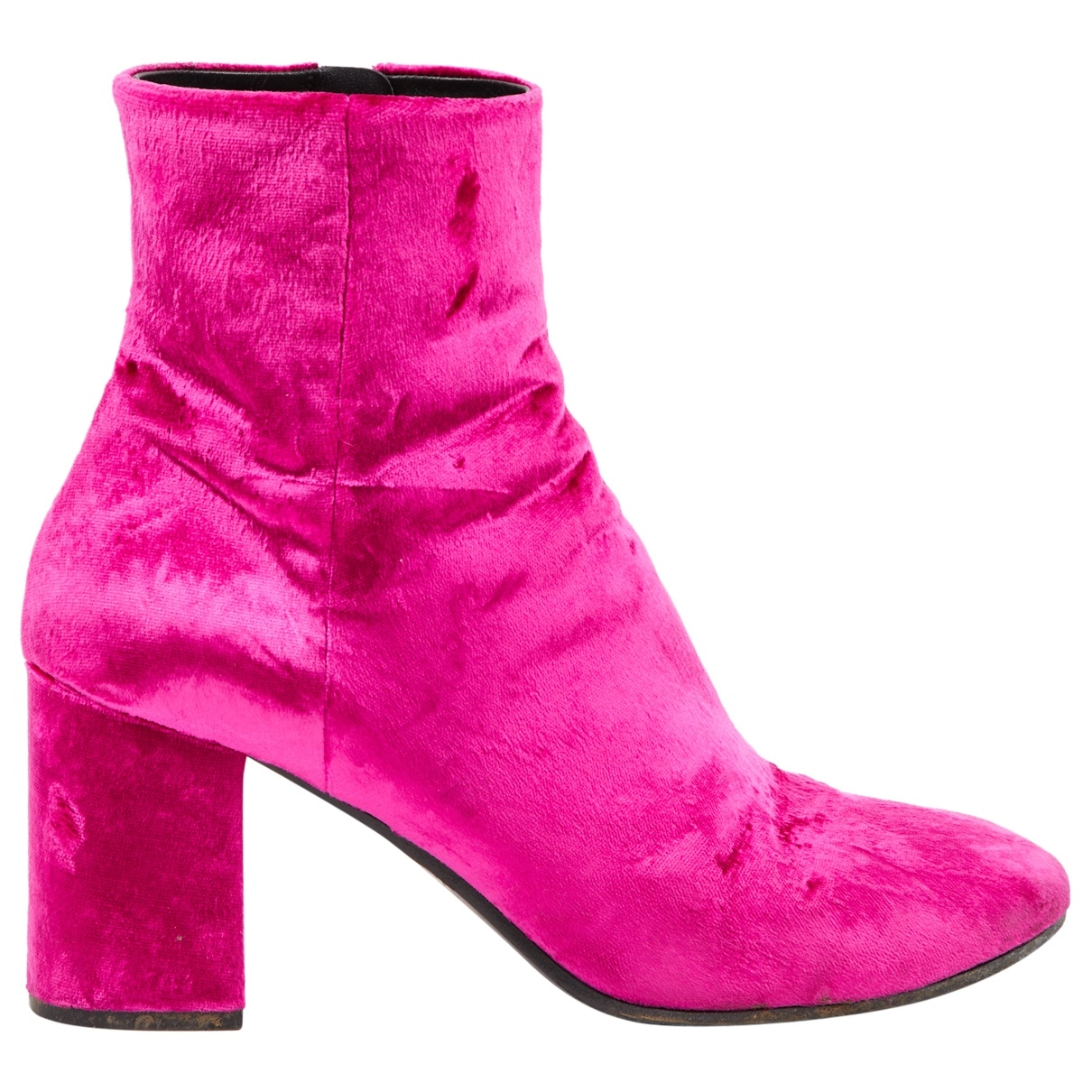 Balenciaga - Bottes   pour femme en velours - rose