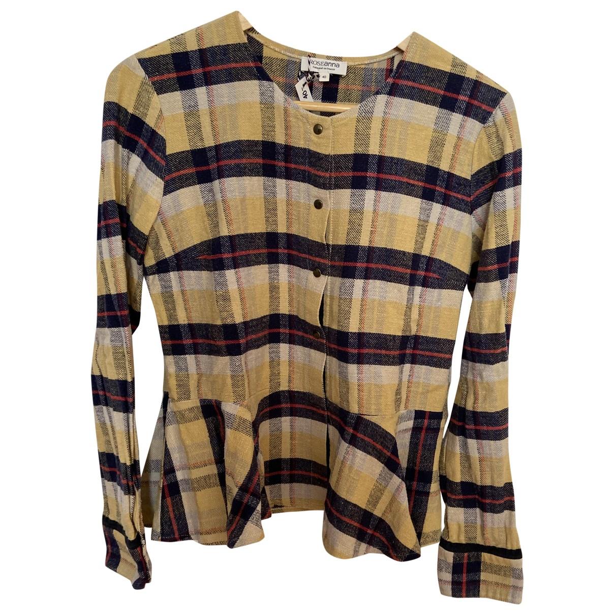 Roseanna - Top   pour femme en coton - jaune