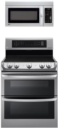 2 Piece Kitchen Appliances Package with LDE4413ST 30