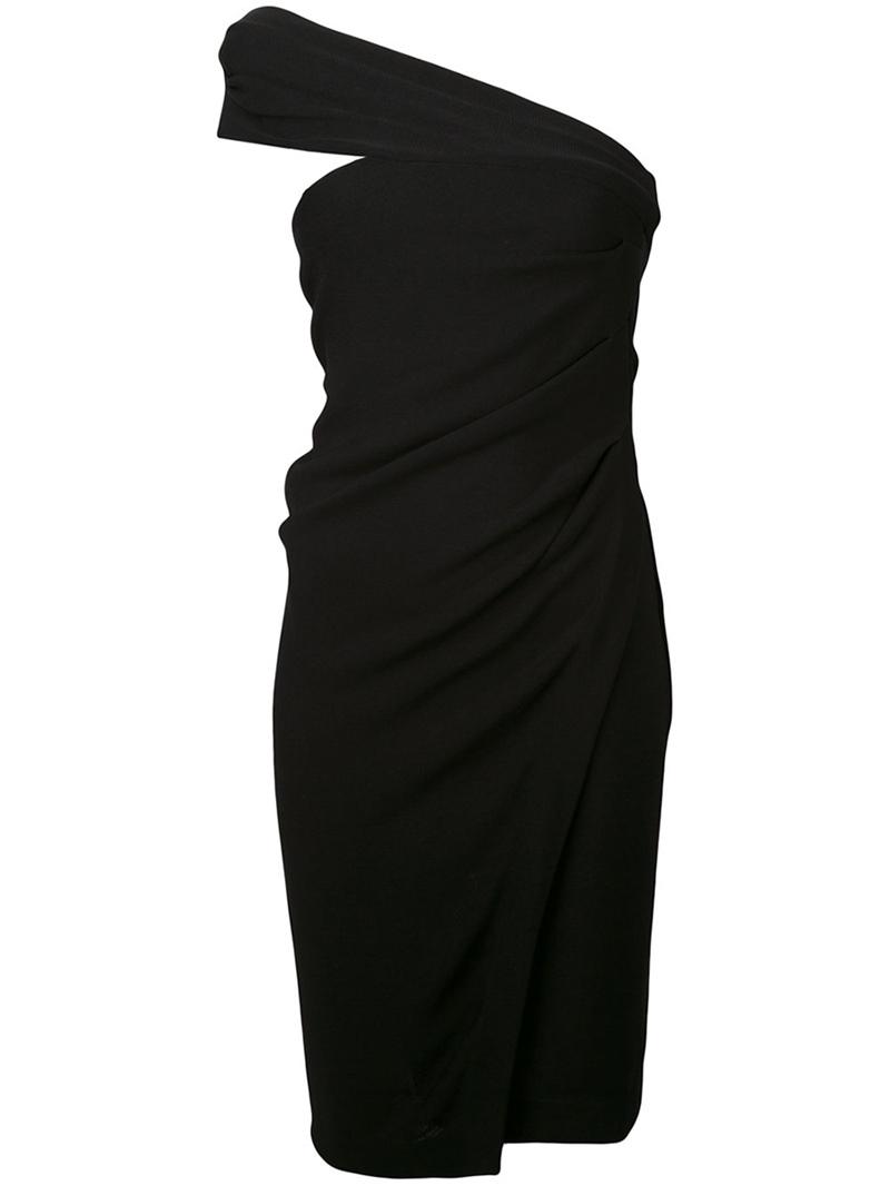 Ericdress Pleated Backless Zipper Asymmetric Bodycon Dress