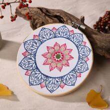 Lotus Pattern Cross Stitch