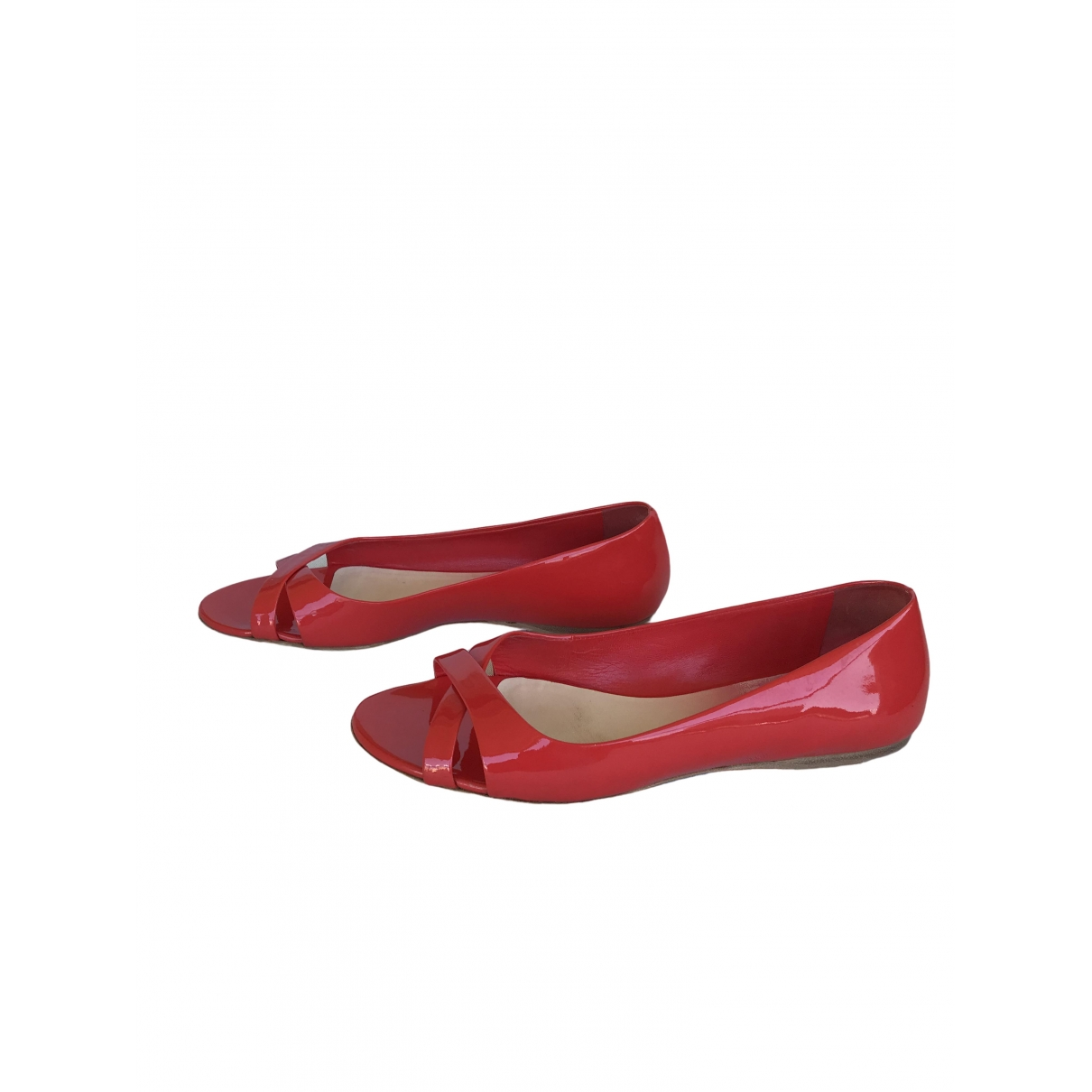 Miu Miu \N Red Patent leather Ballet flats for Women 36.5 EU