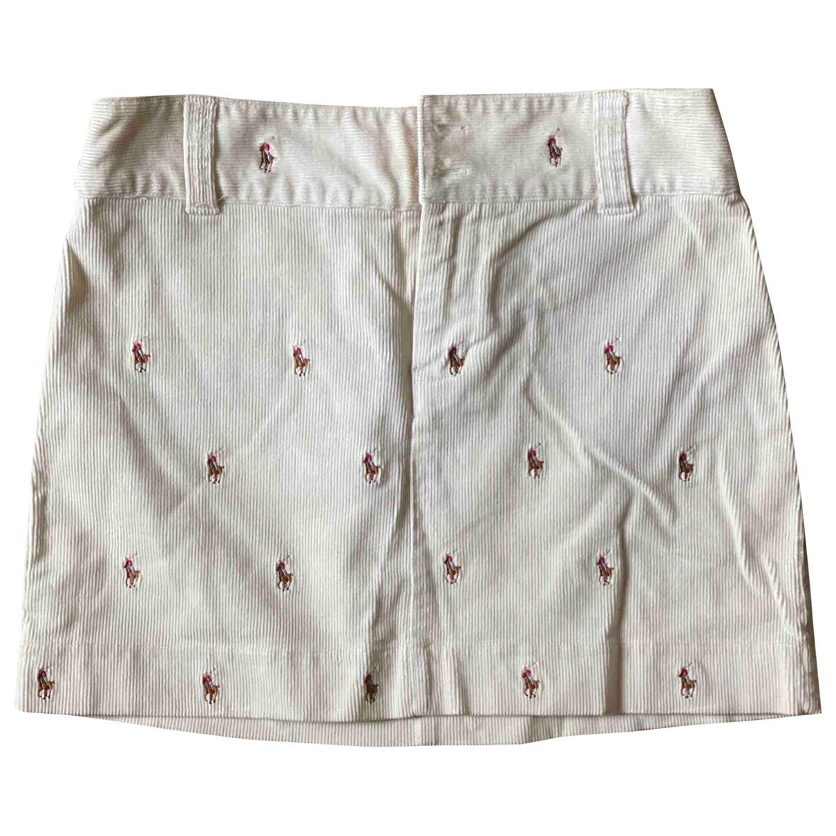 Ralph Lauren - Jupe   pour enfant en velours - blanc
