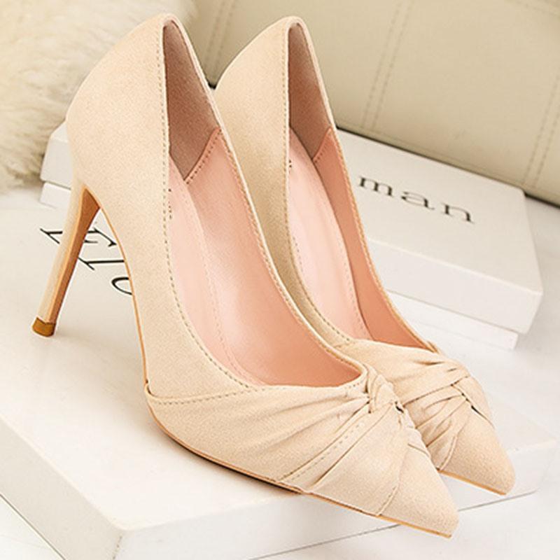 Ericdress Thread Pointed Toe Stiletto Heel Plain Thin Shoes