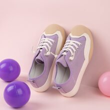 Toddler Girls Cap Toe Canvas Shoes
