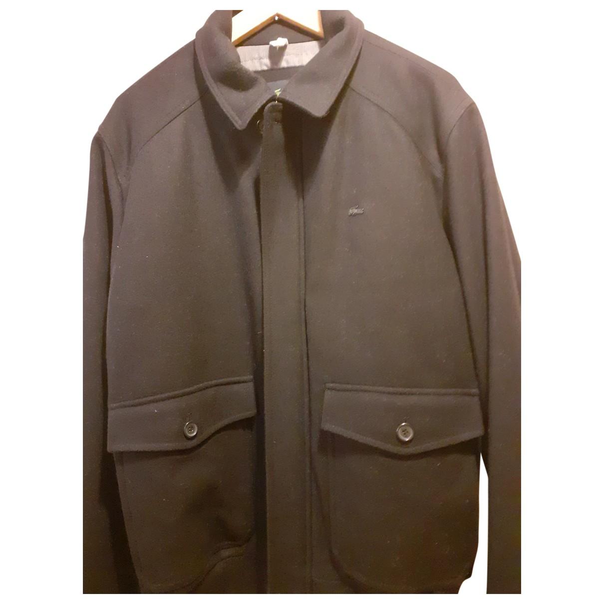 Lacoste \N Black Wool coat  for Men XL International