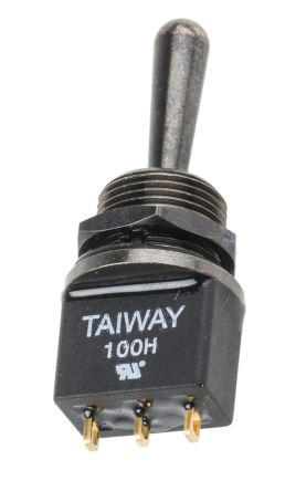 RS PRO SPDT Toggle Switch, (On)-Off-(On), IP67, PCB
