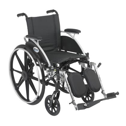 l414dda-elr Viper Wheelchair With Flip Back Removable Arms  Desk Arms  Elevating Leg Rests  14