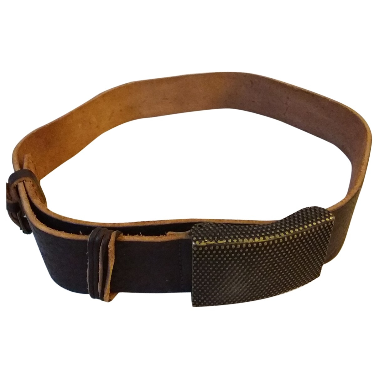 Ikks \N Brown Leather belt for Men 90 cm