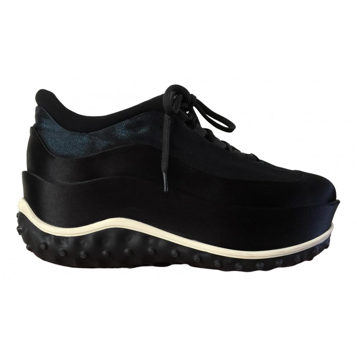 Miu Miu \N Black Cloth Trainers for Women 37.5 IT