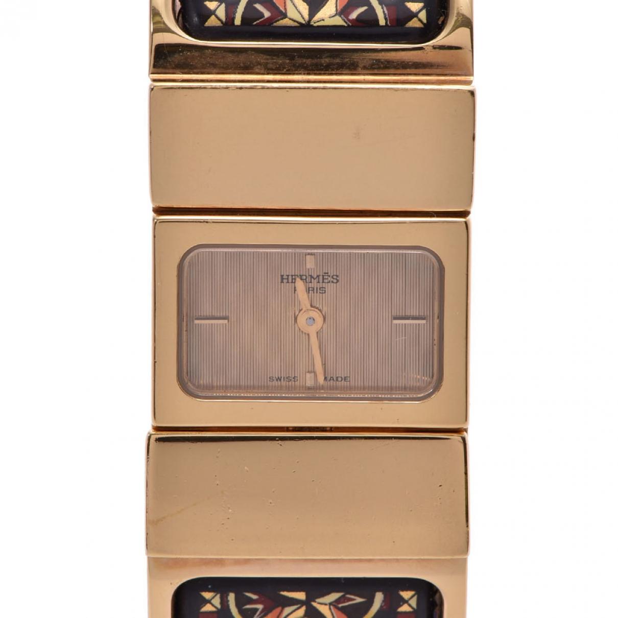 Hermes Loquet Uhr in  Gold Vergoldet
