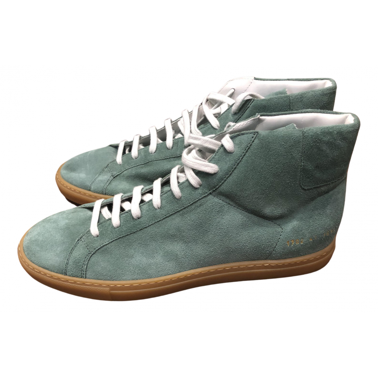 Common Projects N Green Suede Trainers for Men 41 EU