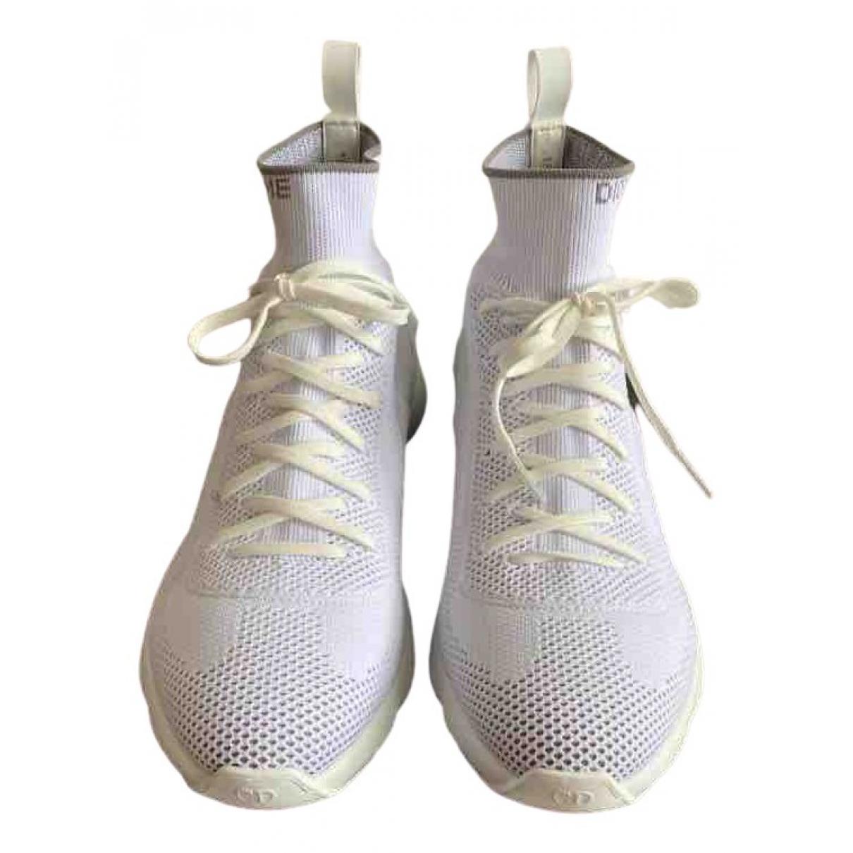 Dior \N Sneakers in  Weiss Leinen