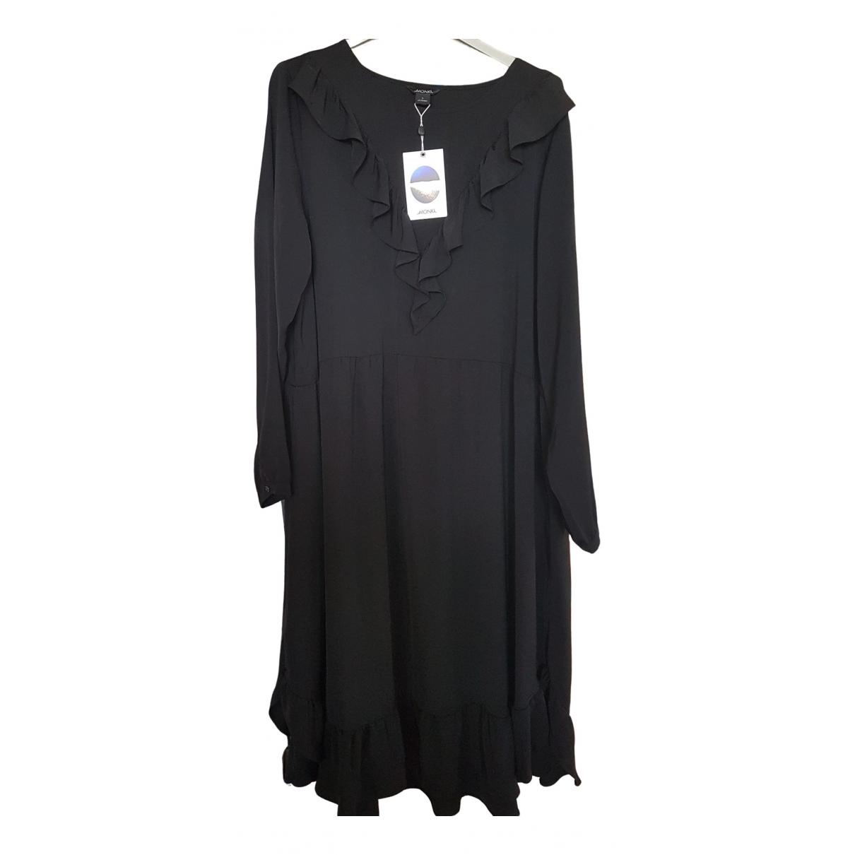 Monki \N Kleid in  Schwarz Viskose
