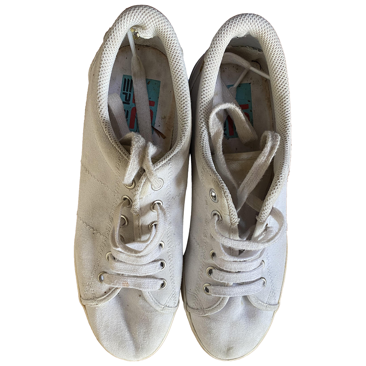 Jeffrey Campbell N White Cloth Trainers for Women 39 EU