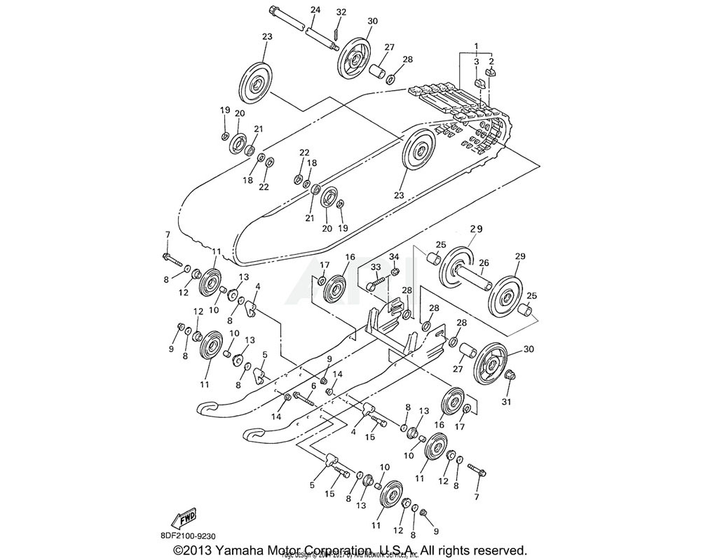 Yamaha OEM 8CR-47341-11-00 SPACER
