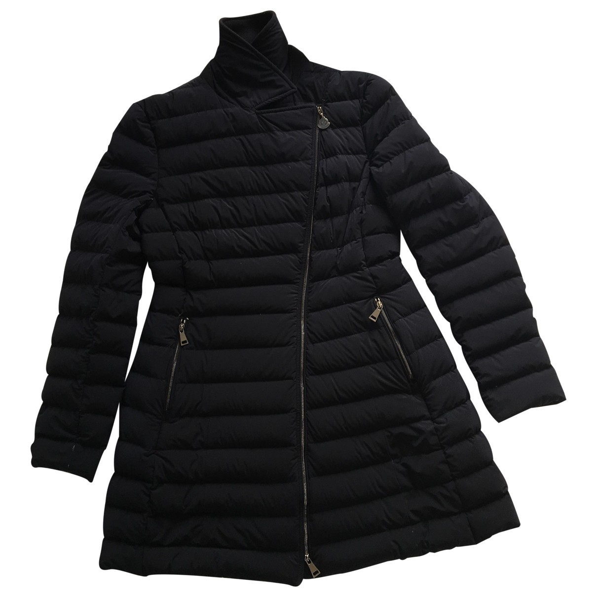 Moncler - Manteau Long pour femme en laine - marine