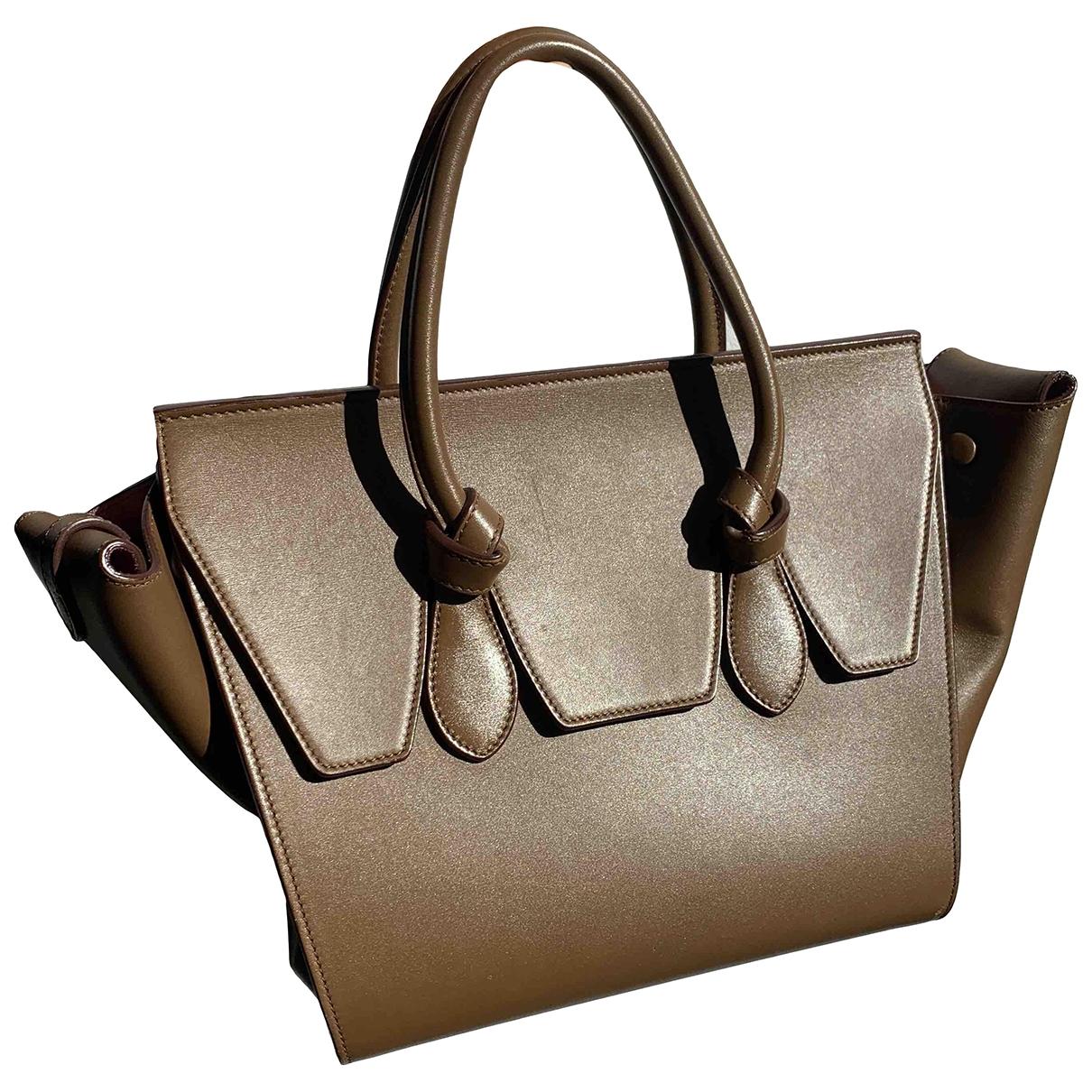 Celine Tie Handtasche in  Kamel Leder