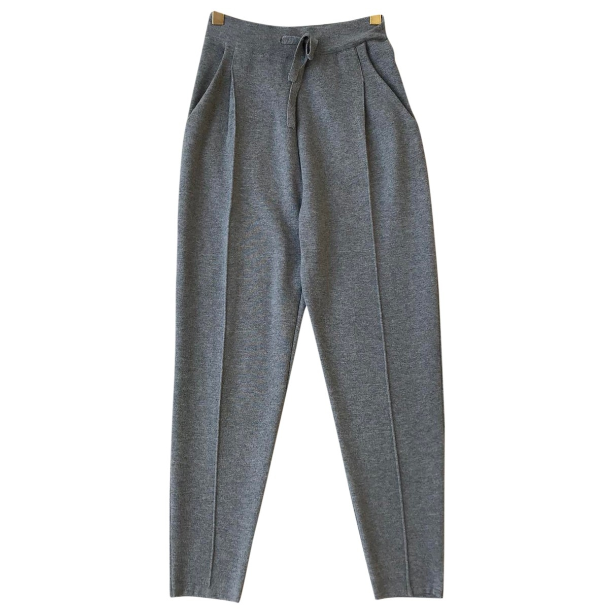 Theory \N Grey Wool Trousers for Women S International